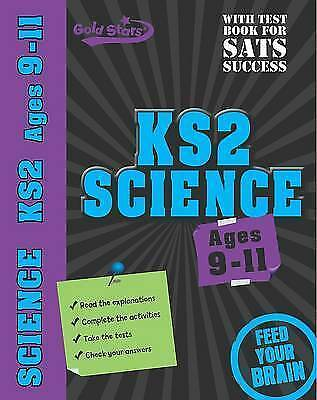 NEW  KS2 SCIENCE (age 9-11 ) GOLD STARS with TEST BOOK for exam practice