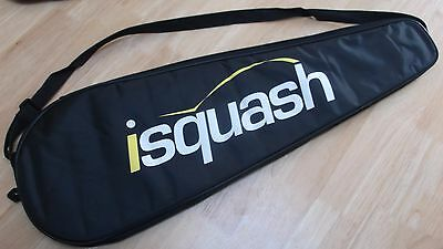 Isquash Full Lenght Squash Racket Head Padded Cover Bag Shoulder Strap
