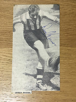 Superb Derek Reeves signed picture Southampton autograph 1954-1962 Bournemouth