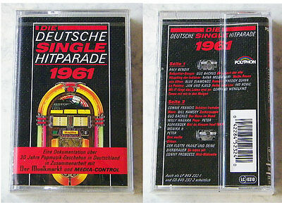 DEUTSCHE SINGLE-HITPARADE 1961 - Ralf Bendix, Gus Backus,... Polyphon MC OVP/NEU
