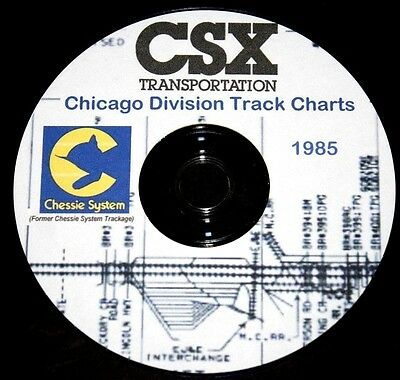Chessie System 1985 (CSX) Chicago Division Track Chart PDF Pages on DVD