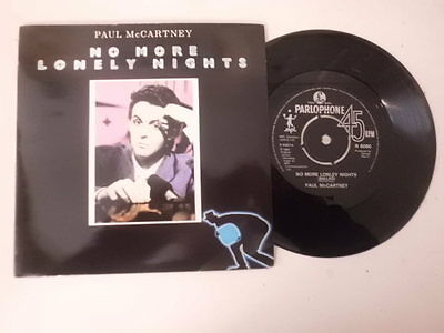 """PAUL McCARTNEY 7"""" SINGLE P/S * NO MORE LONELY NIGHTS *"""