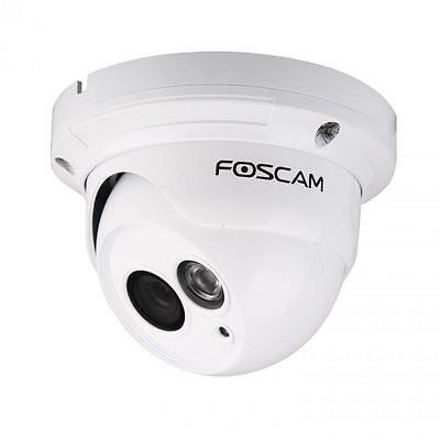 Foscam FI9853EP HD PoE Dome IP Camera White H.264 Video Compression IP66 Rated