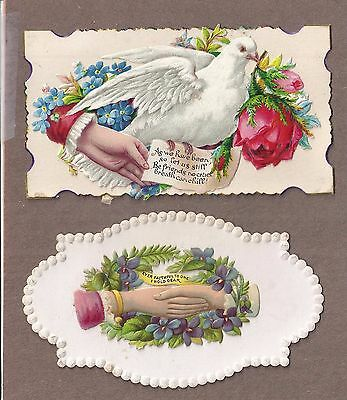 6 VICTORIAN CALLING CARDS = HANDS SALESMAN SAMPLES Rare vintage 1880s90s.