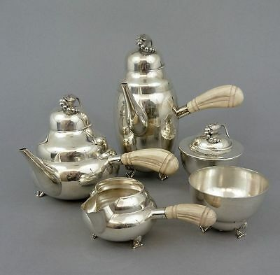 Durham Silver Company 5-teiliges Kaffee- Teeservice, Sterling Silber, 2554 Gramm