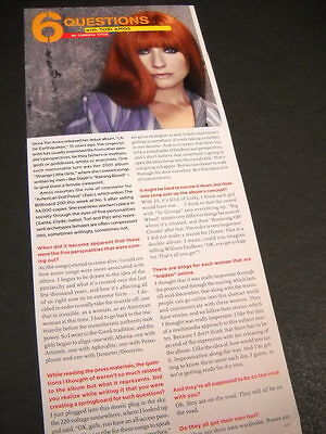 TORI AMOS fields 6 Questions detailed 2007 music biz promo article with image
