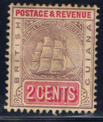 British Guiana #133(1) 1900 2 cent lilac & rose Seal of Colony MH CV$4.00