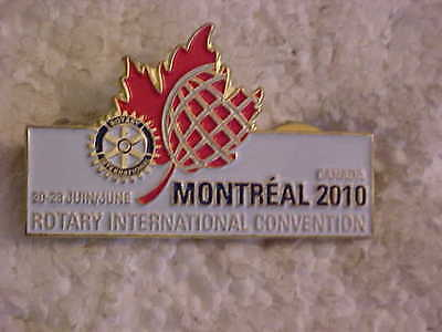 Rotary International Convention June 20 To 23 Montreal 2010 Lapel Pin