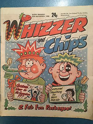 Whizzer and Chips - Vintage  COMIC - 27th December 1986