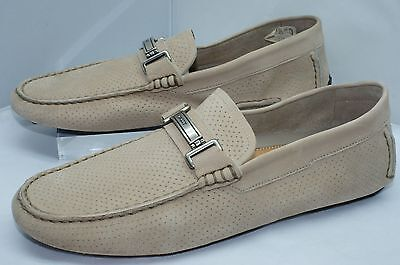 Bally Men's Shoes Beige Droteo Loafers Size 11 Drivers Slip Ons Suede NIB