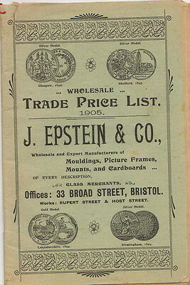 J. Epstein & Co. Mouldings, Picture Frames, Mounts... Trade Catalogue 1905