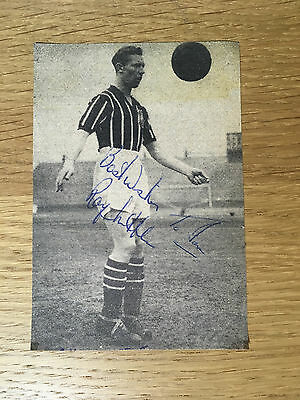 Very rare Roy Little signed picture Manchester City autograph 1952-1958