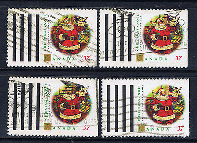 Canada #1455(1) 1992 37 cent Personages Santa Claus Pf12.5x13 Used SCV$4.00