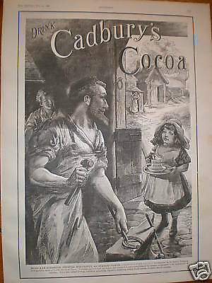 Cadbury's Cocoa muscular strength large advert 1886