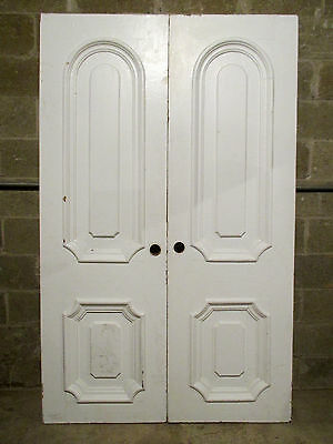 ~ ANTIQUE DOUBLE ENTRANCE FRENCH DOORS 50 x 80 ~ ARCHITECTURAL SALVAGE ~