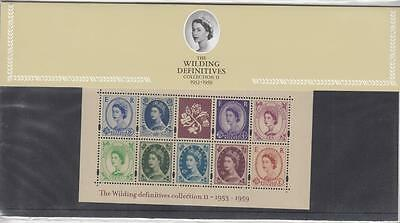 Gb Presentation Pack Wilding Definitives Mini Sheet Collection 11 , Pack 61