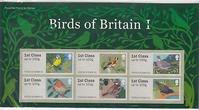 GB Presentation Pack BIRDS OF BRITAIN I POST & GO 1 2010