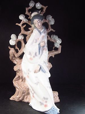 "Lladro #4807  GEISHA Glazed  12 1/4""  Retired"