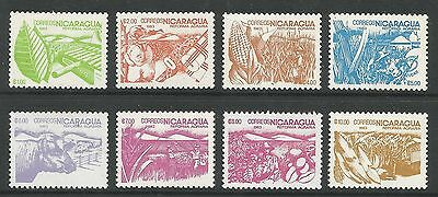 NICARAGUA. 1983. Agrarian Reform Set. SG: 2536/43. Mint Never Hinged.