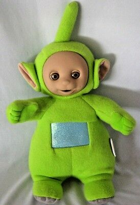"Playskool Teletubbies Dipsy Plush Doll 16"" Talking 1998 Soft & Clean"