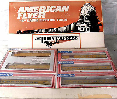 American Flyer S Gauge Pony Express 6-49600 Union Pacific Sealed 6 Pc Train Set