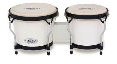 Toca Synergy Synthetic Bongo Drums Percussion - White