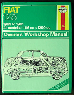 FIAT 128 Haynes Workshop Manual 1969-81 inc Rally, Sport Coupe, Saloon, Estate