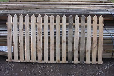New: Picket  Untreated Fence Panels  6 X 3 [ For Slotted Posts] £10 Each