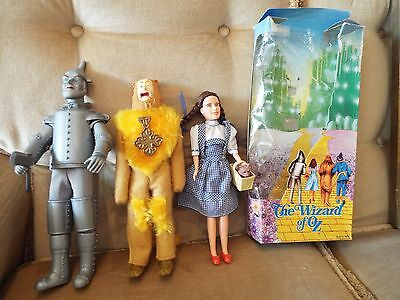 Lot 3 Wizard Of Oz Dolls Toy Time & Turner - Tin Man, Dorothy & Lion & One Box N