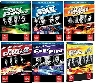 The Fast & Furious 1 2 3 4 5 6 SteelBook Collection [Blu-ray + DVD + Digital]