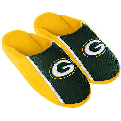 Pair Green Bay Packers Jersey Slide Slippers - Team Color House shoes JRS16 Styl