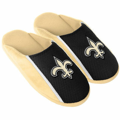 Pair New Orleans Saints Jersey Slide Slippers - Team Color House shoes JRS16 Sty