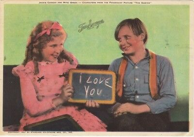 Jackie Coogan And Mitzi Green Tom Sawyer Photo Play Paint Set Add Card