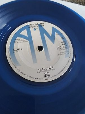 "The Police - Can't Stand Losing You 7"" single EX Blue Vinyl"