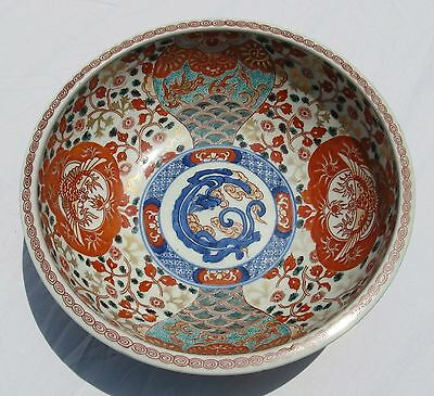 Antique Oriental Japanese Pottery Bowl Imari ?