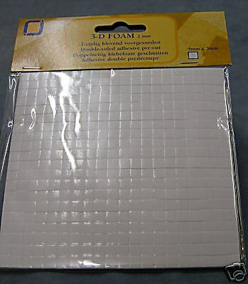 Pack Of 400 Double Sided Adhesive Foam Pads Sticky Fixers For Card Craft