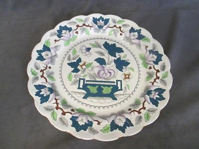 H7 Antique Booths China Green Lotus Dinner Plate