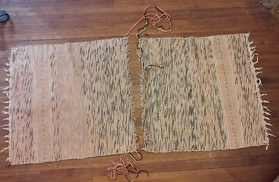 Vintage Antique Hand Loomed Rag Rug Remnant for Repair Lancaster City PA