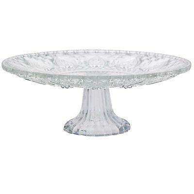 Cake plate Glass vintage style on stand display cupcakes buffet 22.5cm wide