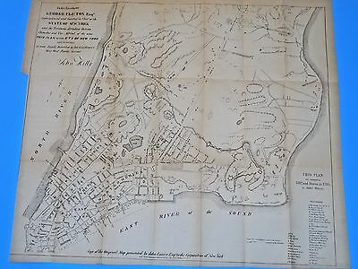 1782 Antique Map New York City & Environs By John Hills - Valentines Manual 1857