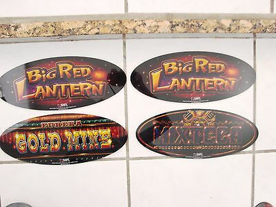 "Plexiglass oval sm Casino Gambling Signs 13 1/8"" X 5 1/4"" X1/8"" Lot of 4 SHFL"