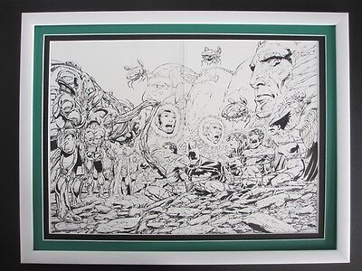 All New Atom #1 DC 2006 - (Original Art) Pages 2 & 3 Double Splash by John Byrne