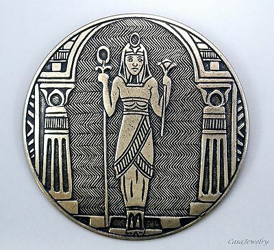#3319 ANTIQUED GOLD EGYPTIAN BROOCH - 1 Pc Lot