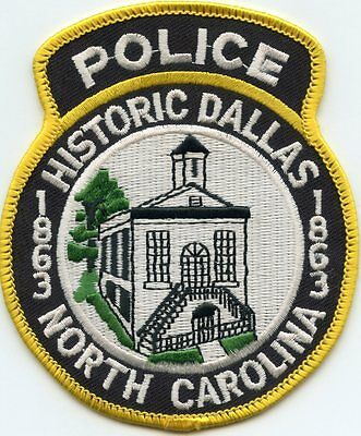 Dallas North Carolina Nc Police Patch