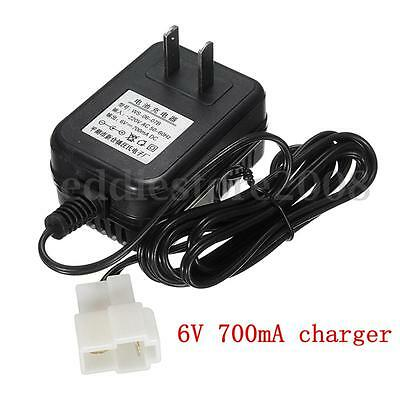 DC 6V 700mA Battery Charger Adapter For Electric Kids Ride on Car Bike Toy New