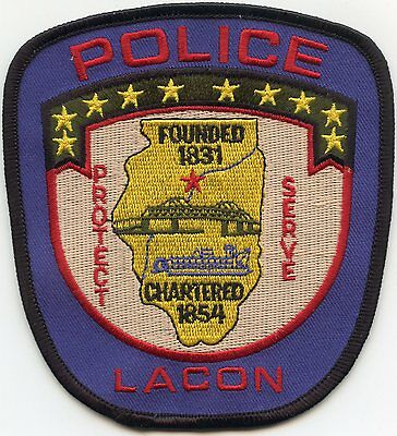LACON ILLINOIS IL Protect Serve POLICE PATCH