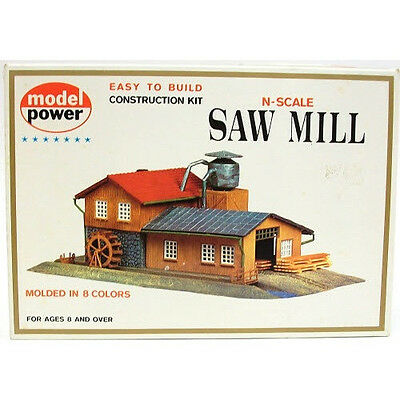 Model Power #1523 N Scale Saw Mill Kit New In Original Box