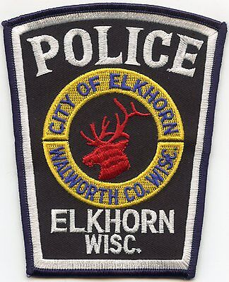 ELKHORN WISCONSIN WI Walworth County POLICE PATCH