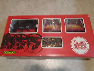 Lgb #20701T Starter Set With #2075 Loco & 2 #3041 Cars