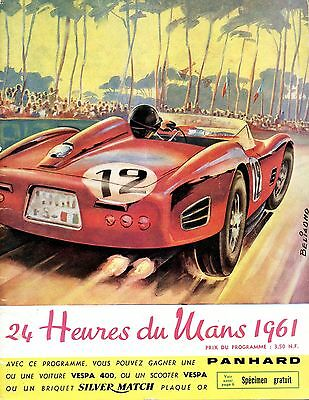 1961 Phil Hill/Olivier Gendebien Ferrari TR6I Win Du Le Mans Race Program